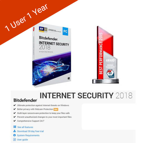 Bitdefender-Internet-Security-1 User-1 Year-2