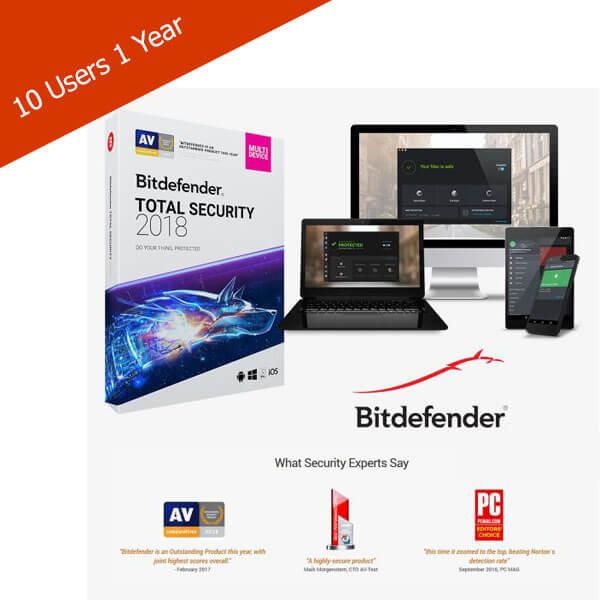 Bitdefender-Total-Security-10 Users-1 Year – 2