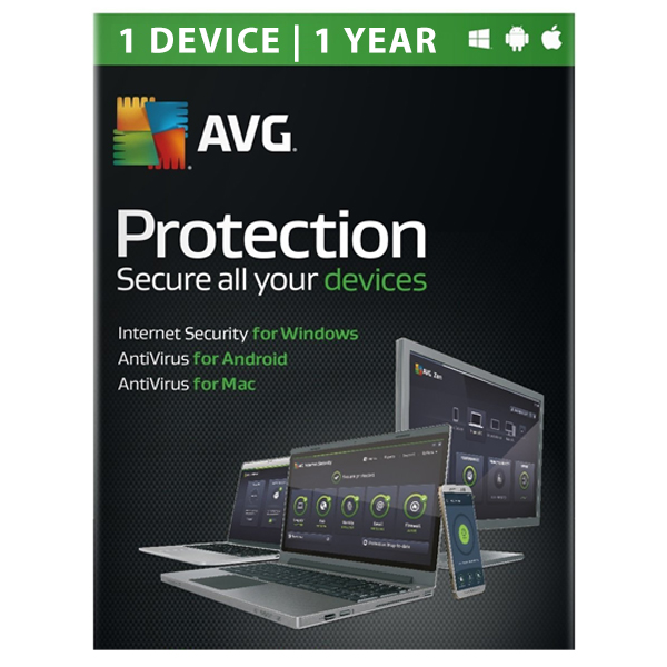 AVG Internet Security Antivirus 2017  1 Year 1 Device ESD
