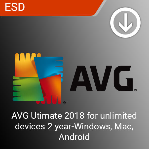 AVG Utimate 2018 for unlimited devices 2 year-Windows, Mac, Android