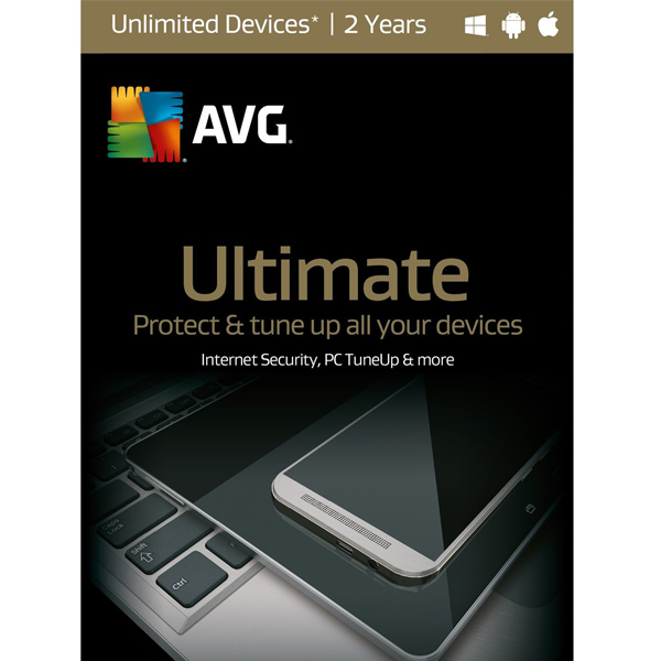 AVG ULTIMATE 2017 FOR UNLIMITED DEVICES 1 YEAR-WINDOWS, MAC, ANDROID ESD