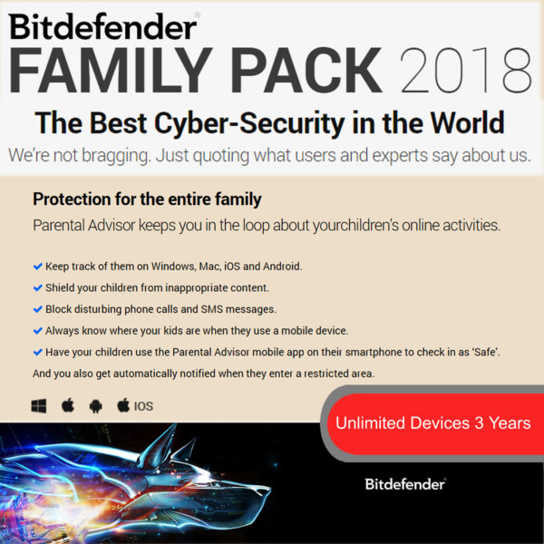 Bitdefender Family Pack1 2018