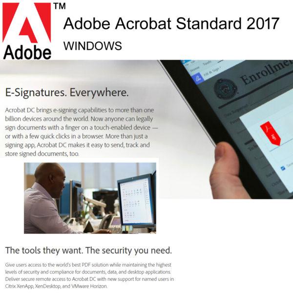 Buy Adobe Acrobat Standard 2017 Lifetime Licence Softvire