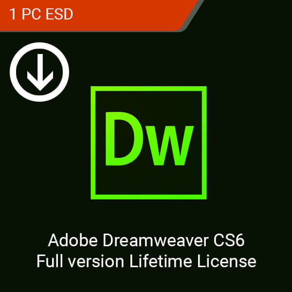 Adobe Dreamweaver CS6 Full version Lifetime License