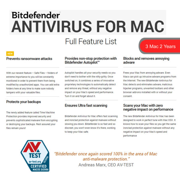 Bitdefender ANTIVIRUS FOR MAC 2018 3