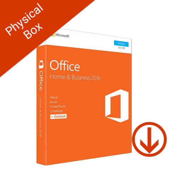 Microsoft Office Home and Business 2016 Windows Physical Box – 2