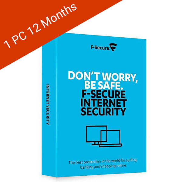 F-Secure Internet Security 2019 1 PC 1 Year (ESD)