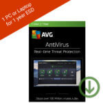 AVG AntiVirus 2018 – 1 PC or Laptop for 1 year – ESD Official Code-2