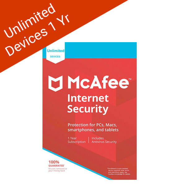 McAfee Internet Security 2018 Unlimited Devices 12 Months License-ESD-2