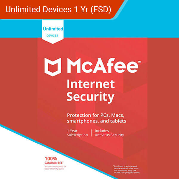 McAfee Internet Security 2018 Unlimited Devices 12 Months License-ESD