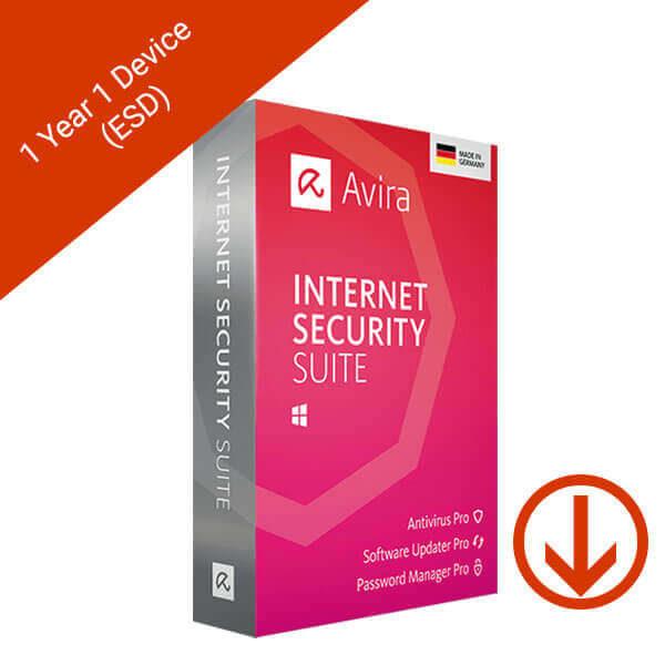 Avira Internet Security Suite 2019 – 1 Yr 1 Device – 2 – esd
