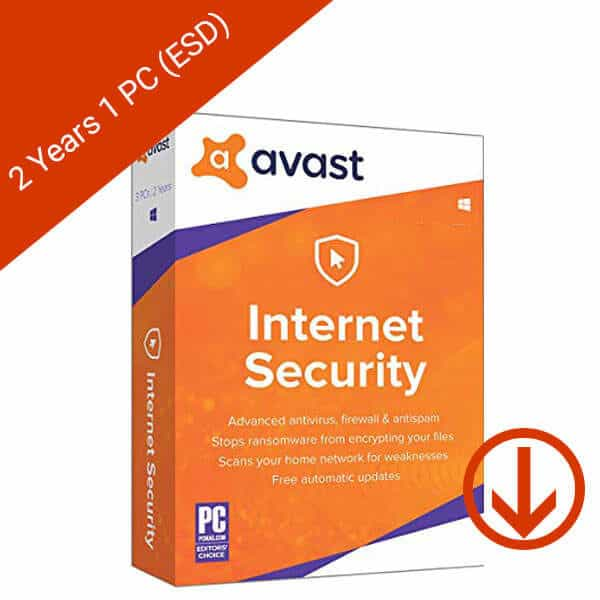 Avast Internet Security 2019 2 Years 1 PC Global (ESD)