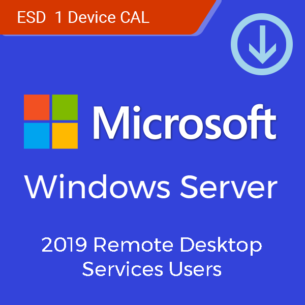 Microsoft Windows Server 2019 Remote Desktop Services 1 User/Device CAL  (ESD)