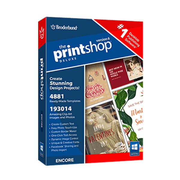 The Print Shop Deluxe 6 box