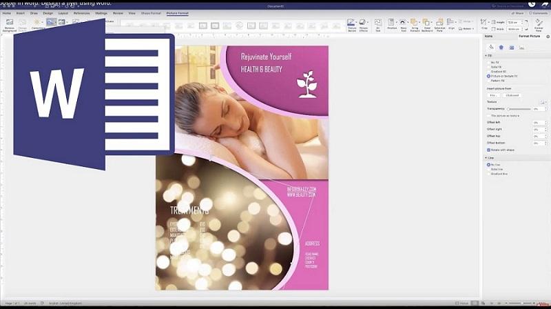 microsoft word flyer design