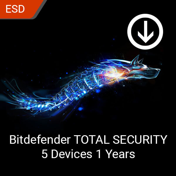 Bitdefender TOTAL SECURITY 5 Devices 1 Year