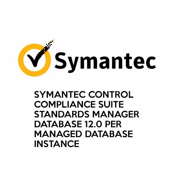 Symantec Control Compliance Suite Standards Manager Database