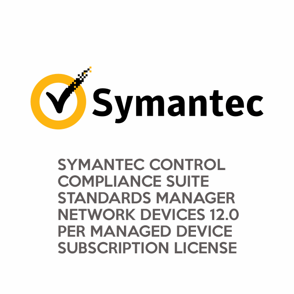 Symantec Control Compliance Suite Standards Manager Network Devices 12.0 per Managed Device Subscription License