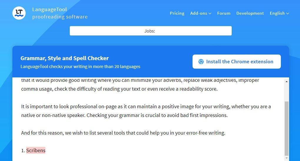 language tool grammar checker for ms word