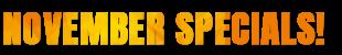 October Specials Offer Banner